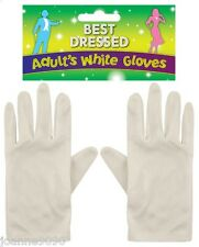 SHORT WHITE ADULT SANTA SUIT CLOWN MAGICIAN 1920s COSTUME FANCY DRESS GLOVES NEW