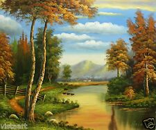 """Oil Painting On Stretched Canvas 20""""x 24""""- Autumn Landscape"""
