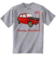 FIAT ABARTH 127 INSPIRED - NEW AMAZING GRAPHIC GREY TSHIRT S-M-L-XL-XXL