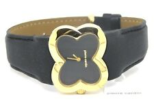 Pierre Cardin Ladies Petales Gold Bracelet Watch PC104322F02 Leather Black
