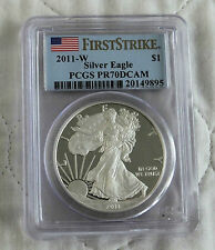 USA 2011 W $1 .999 SILVER PROOF EAGLE SLABBED PCGS PF70 DCAM FIRST STRIKE