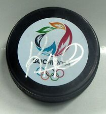 KEN HITCHCOCK Signed 2014 SOCHI OLYMPIC HOCKEY PUCK! TEAM CANADA! BLUES 1002899