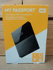 New Western Digital WD My Passport X 4TB External USB 3.0 Portable Hard Drive