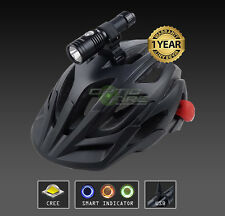 Opticfire® CREE LED USB Smart cycle helmet mount lamp bike head light torch