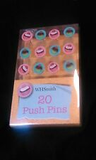 2 PACKS W H SMITH CUP CAKES PUSH PINS X 20 FOR MEMO BOARD