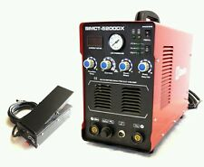 SIMADRE 5200DX 110/220V 50A PLASMA CUTTER 200A TIG ARC MMA WELDER & FOOT PEDAL