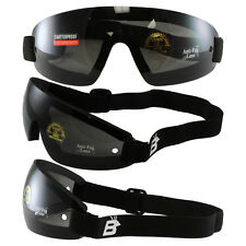 Birdz Wing Face Hugging Riding Goggles with Smoke Lenses