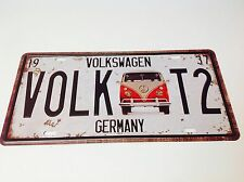 VOLKSWAGEN CAMPER VAN T2 LICENCE PLATE/Beatle Wall Decor Vintage Sign Tin Plaque