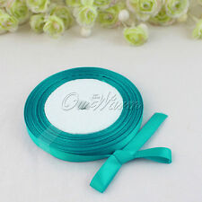 25Yds Teal Blue Satin Ribbon Craft Bow Wedding Party Baby Shower Gift Box Decor