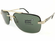 MONT BLANC Rimless Aviator Designer Sunglasses Rose Gold / Green MB510S 30D