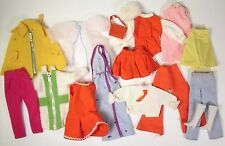 Vintage Barbie Sized 17 Piece Lot Clone Factory Made Dress Coat Pants Skirt VGUC