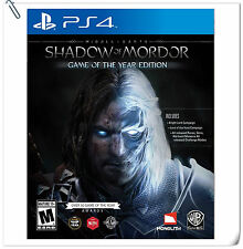 PS4 Middle-earth Shadow of Mordor Game of the Year GOTY SONY Action Warner Home