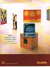 PUBLICITE ADVERTISING  2000   SCHOLTES   four à pyrolyse