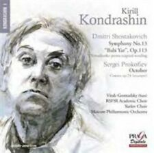 "SHOSTAKOVICH: SYMPHONY NO. 13 ""BABI YAR""; PROKOFIEV: OCTOBER NEW CD"