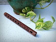 """13"""" Authentic Traditional Hand Carved Wooden Decorative Flute Indian Musical"""