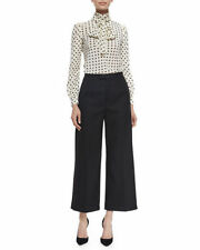 NEW $395 Red Valentino Black High-Waist Cropped Wide Leg Pants.SZ:00""