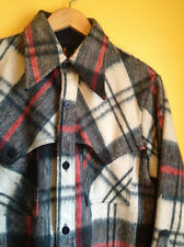 CPO Jacket Mens Vintage Wool Plaid Mackinaw Style Pockets Size M EUC FREE SHIP
