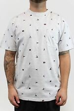 New DC SHOES Mens Ravencrest SS T Shirt Medium Color Team Flag Heather Grey BW1