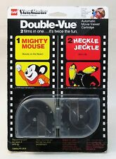 MIGHTY MOUSE and HECKLE & JECKLE 1978 Viewmaster DOUBLE-VUE mint on sealed card