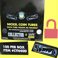 BCW Round Nickel 5c Coin 100 Clear Tubes Box