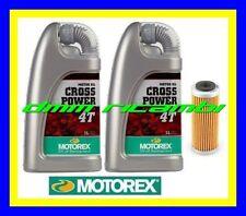 Kit Tagliando HUSQVARNA 350 FE FC 14 Filtro Olio MOTOREX Cross Power 10W50 2014