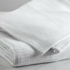 6 NEW WHITE THERMAL 60X90 SNAGFREE BLANKET HOSPITALITY 2.8# BEST DEAL