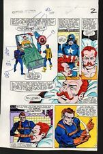 1983 Captain America 284 page 2 Marvel Comics color guide art:Sal Buscema/1980's