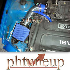 BLUE 2004-2008 CHEVY AVEO 1.6 1.6L BASE LS LT 4-DR  AIR INTAKE KIT + FILTER