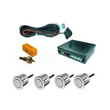 ALFA ROMEO SILVER REVERSING PARKING KIT 4 SENSOR BUZZER UNIVERSAL FIT EASY DIY