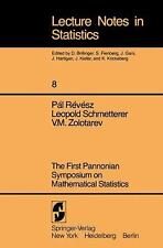 First Pannonian Symposium On Mathematical Statistics. (Lecture Notes i-ExLibrary