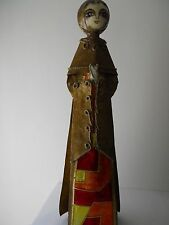 "Mexican Paper Mache De Sela Matamoros, Tamps Stained Glass Design Figure 26""x8"""