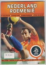 NETHERLANDS vs ROMANIA programme - 24/03/2007