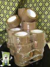 "6 Rolls Brown 2.0 Mil Box Tape - 2"" x 110 Yards (330 Feet) Sealing Packaging Tan"