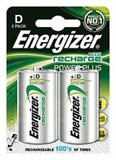 2x Energizer Recharge EXTREME D HR20 2500mAh Rechargeable Batteries