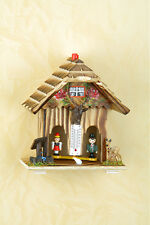 Casa del tempo,Figure visualizza Meteo an,dipinto a mano,Personaggi legno,