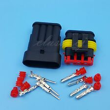 5 Sets 4 Pin Car Waterproof Wire Connector HID Plug 1.5mm Terminals