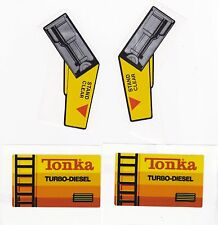 TONKA TURBO DIESEL LOADER DECAL SET