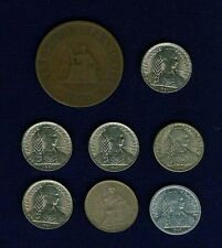 FRENCH INDO-CHINA GROUP LOT OF (8) COINS: 1888 CENTIME, 1937 10 CENTIMES, 1940