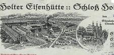 Holter Eisenhütte Brief 1921 Schloß Holte Westfalen Eisengießerei  Emaillierwerk