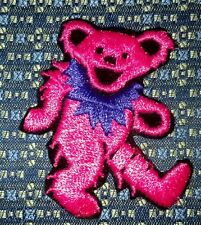GRATEFUL DEAD DANCING BEAR PINK/PURPLE Iron or Sew-On Patch