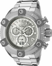 NEW Invicta Reserve Grand Octane Arsenal Swiss Movt Chronograph Silver Tone 0336