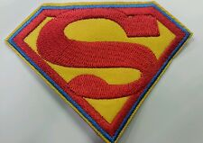 Superman embroidered patch with blue border 9cm x 7cm