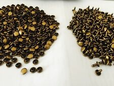 6 mm - 500 packs(1000PC)-Metal Bronze Double Cap Rivets For Leather Craft