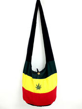 *HERB RASTA LEAF RAGGA UNISEX BAG HIPPIE CROSSBODY YAAM BOHO THAI HOBO ADVENTURE