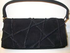 NEW AUTHENTIC CHRISTIAN LOUBOUTIN BLACK SUEDE BAG PURSE CLUTCH EVENING