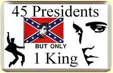 MAGNETE per frigorifero, la musica Elvis 45 PRESIDENTI, ma solo 1 King 7x4.5cm bespoked NUOVO CE