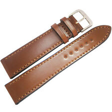 20mm Rios Springfield Cognac Tan FLAT Shell Cordovan Leather Watch Band Strap