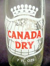 vintage ACL Soda Bottle: CANADA DRY - 7oz VINTAGE ACL SODA