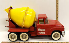 Vintage 1960s Structo Ready Mix Cement Mixer Toy Truck 10 Wheel Pressed Steel