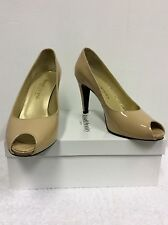 RUSSELL & BROMLEY LOU LOU BLUSH PATENT LEATHER PEEPTOE HEELS SIZE 6/39